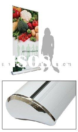luxury electric moving roll up banner in water shape 85*200