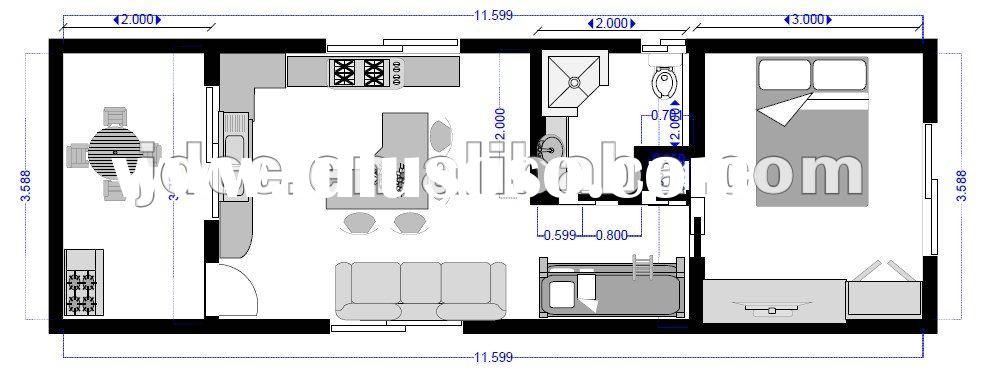 modify shipping container house plan