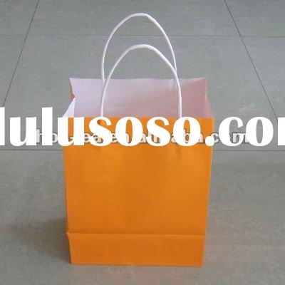 paper bag with twisted paper handles for promotion