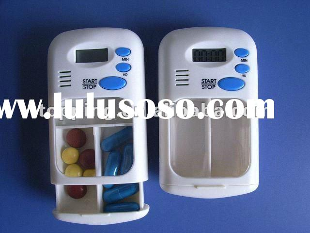pill box 2compartments pill box, pills dispenser, pill box with timer