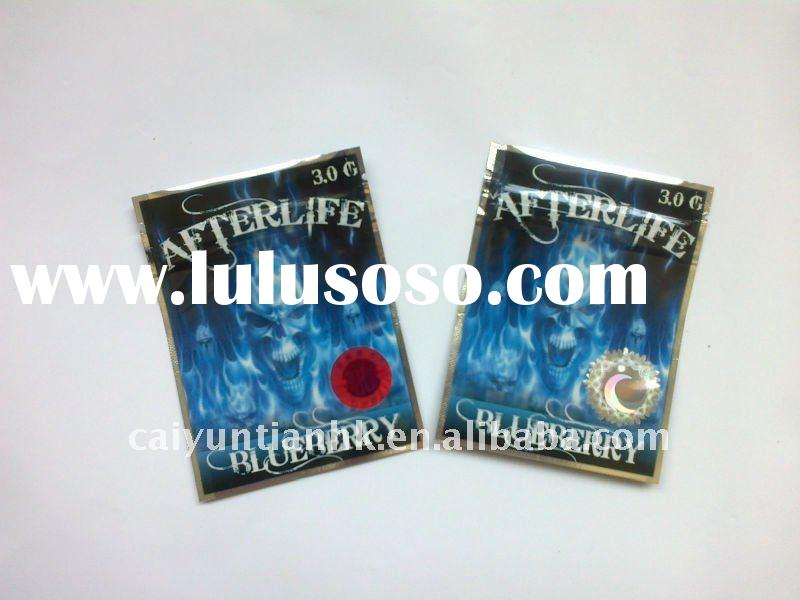 plastic foil bags with counterfeiting label