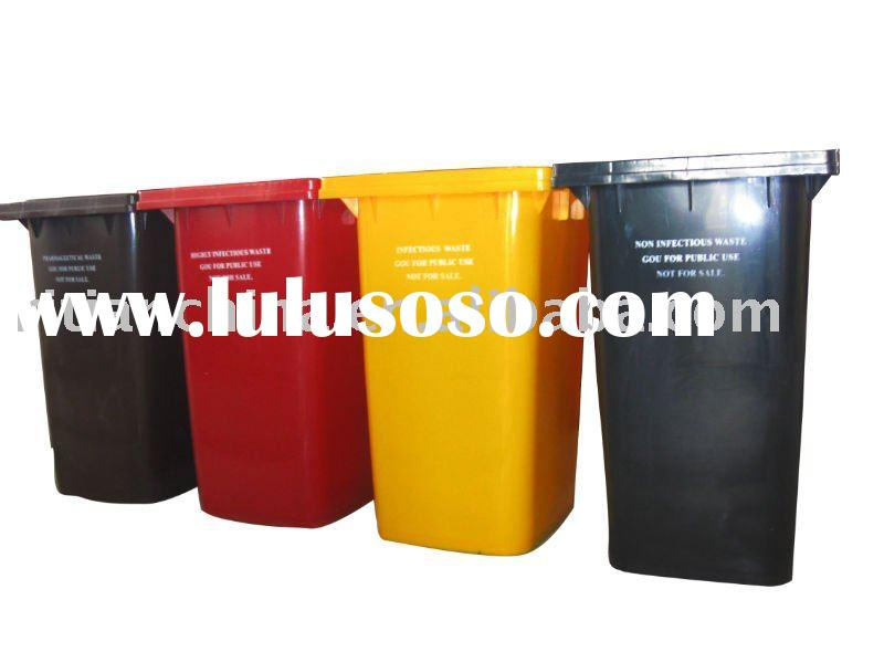 plastic garbage bin with wheels.with pedal and lids
