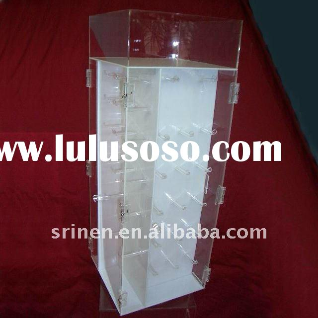 rotating acrylic display case perspex show cabinet