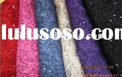 sequin stretch lace fabric