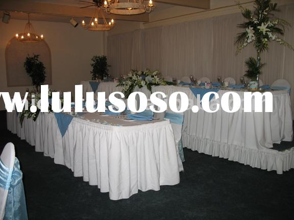table skirting, table skirts, table cover