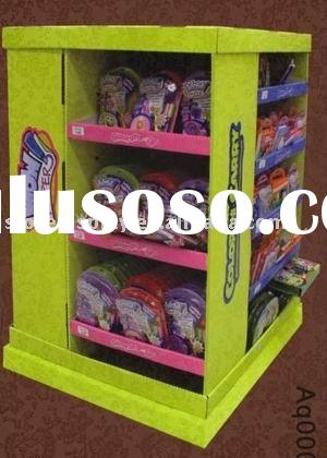 toy pallet display, bag display shelf, retail store display rack