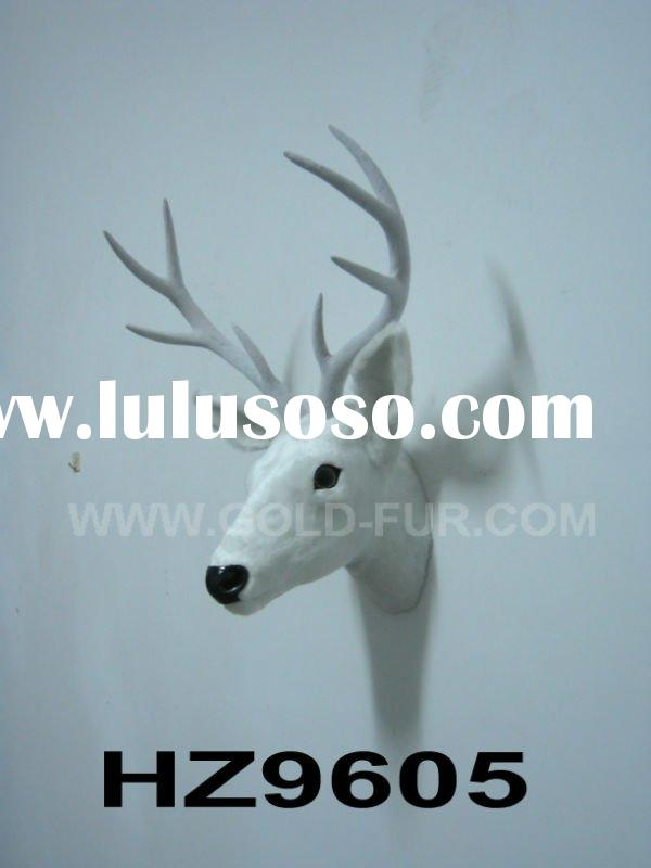 wall-mounted deer head, deer head decoration,white deer head,artificial deer head