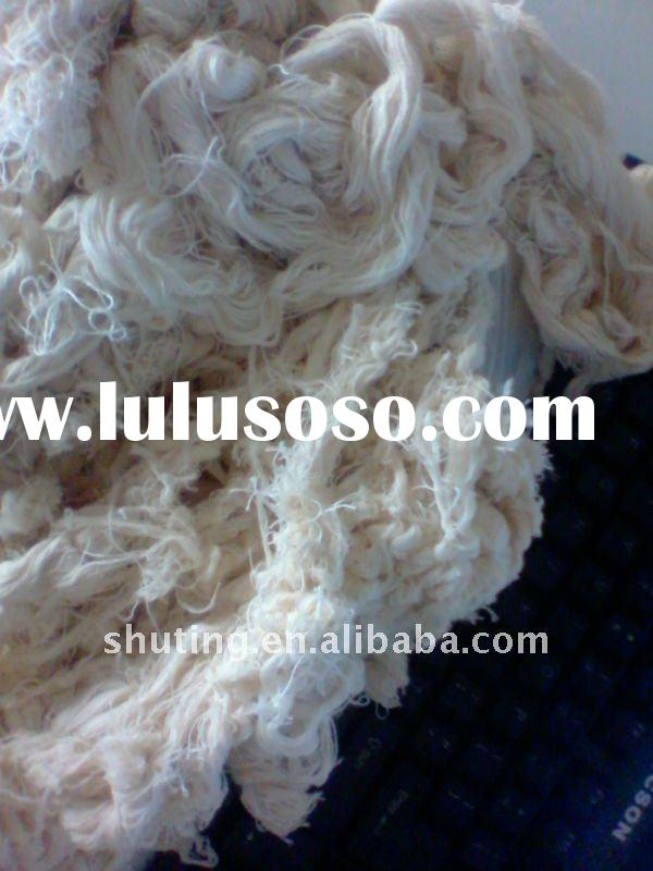 waste cotton yarn for knitting and weaving