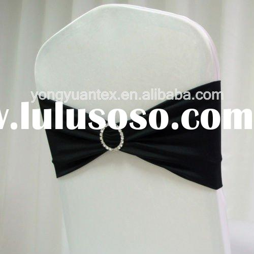 wedding spandex chair band with diamond buckle/spandex chair cover sash/lycra chair bow