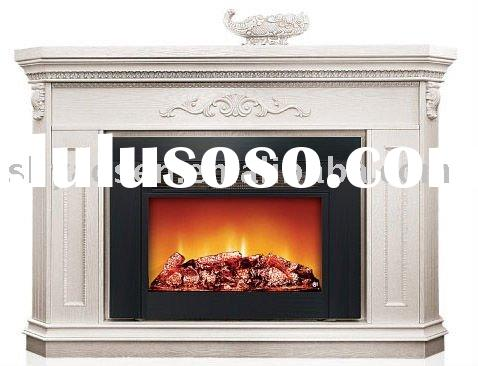 white no flame insert of decorative electric fireplace
