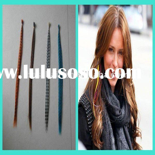 wholesale rooster saddle feather hair extensions