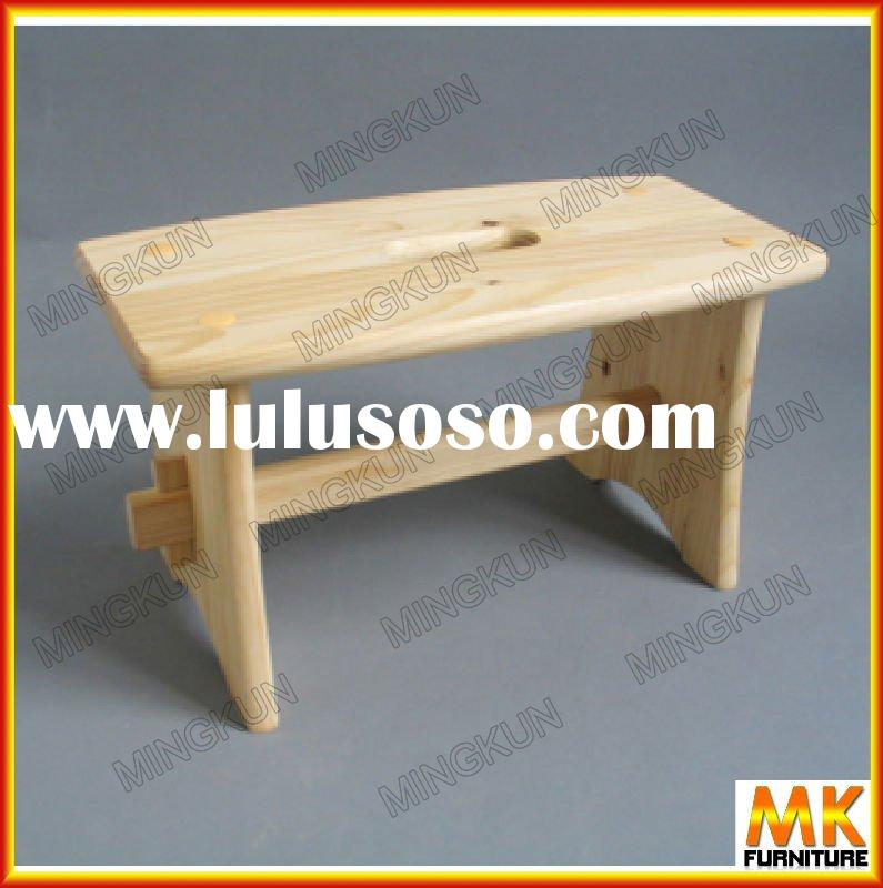 wooden stool pine furniture small stool
