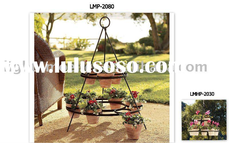 Shopzilla - Metal Wall Pot Plant Holder Outdoor Decor shopping