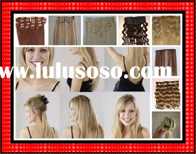 100% human hair remy clip in extentions clip on extensions