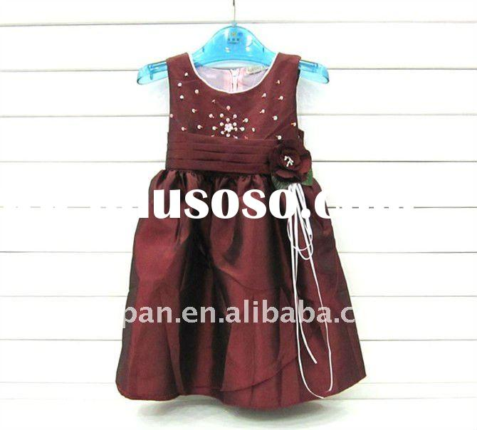 2011 New Design Girl Dress,Formal Evening Dress For Party,Summer Dress For Kids/Children TZ88-3908-6