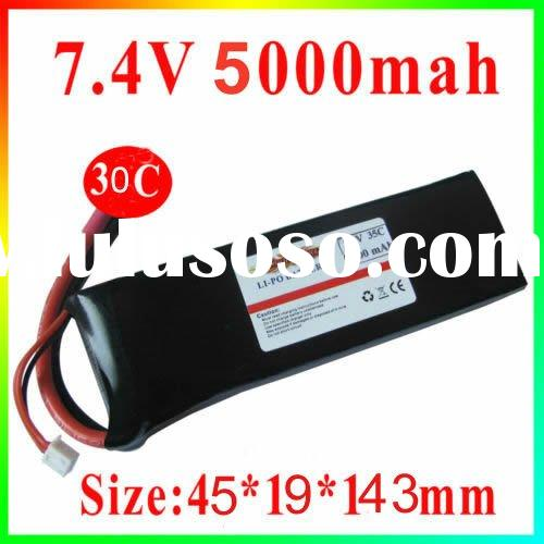 30C -35C 5000mAh 7.4v RC Lipo Battery For Car Helicopter