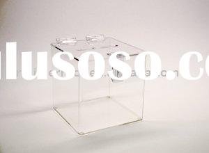 Clear Acrylic Raffle Box With Lock