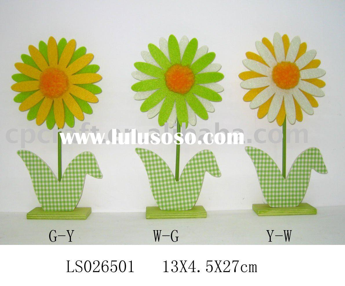 Craft art decorative easter spring felt flower decoration