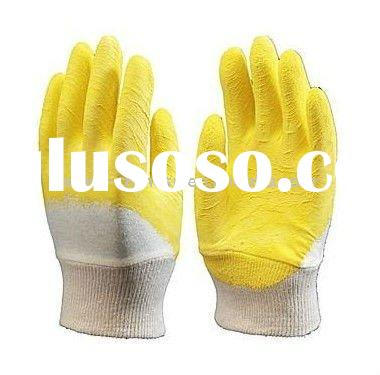 Durable Yellow PVC Rubber Glove For Work