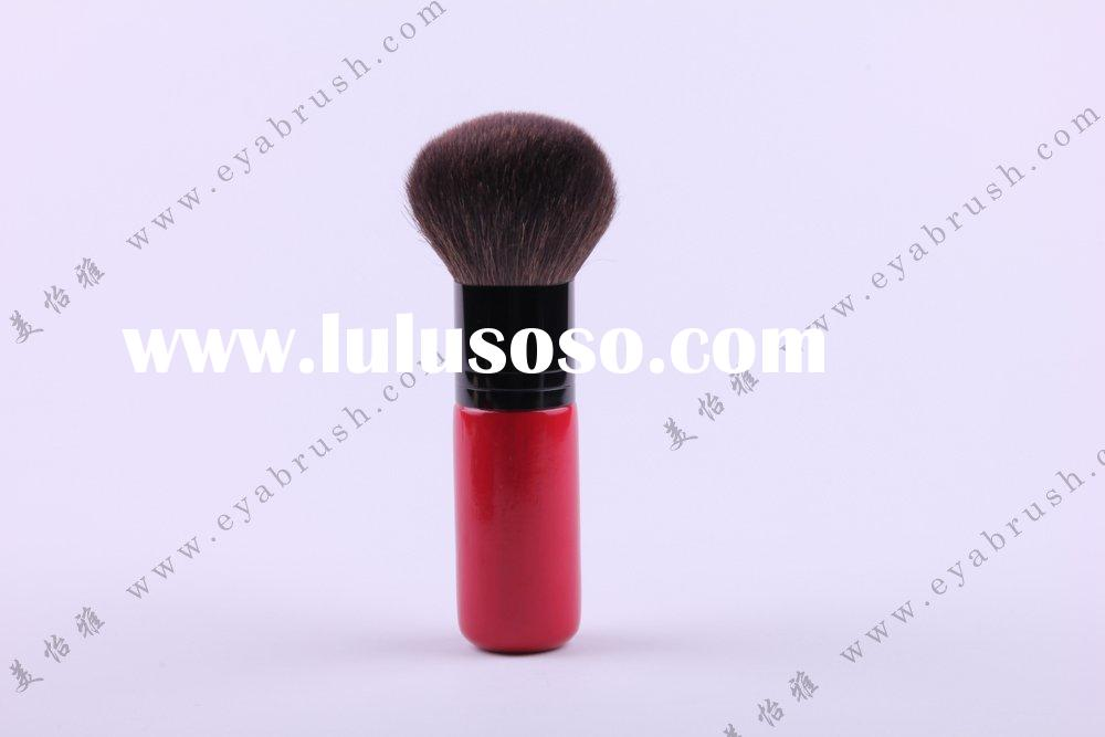 Goat Hair Body/Powder Brush with Red Wooden Handle,OEM and ODM Orders are Welcome