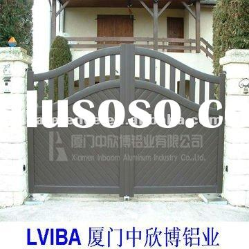 Main Gate Design  Home on Gray Design Aluminium Gate Main Gate Designs Swing Gate