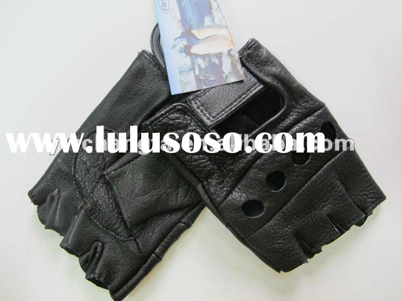 Half-finger sports leather gloves