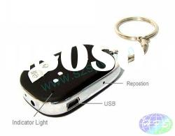 Hotsale 4GB CAR Key Chain Mini DVR MICRO Digital CAMERA +with 3D Audio