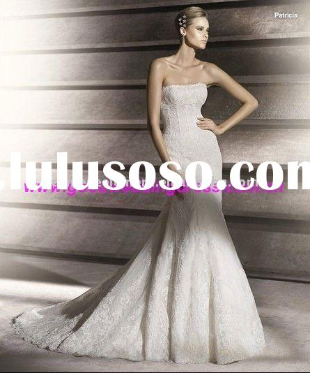 Latest Design Classic Mermaid Off-Shoulder Lace Wedding Dress