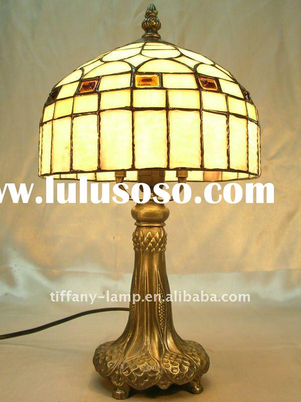 Stained glass designer antique lamp
