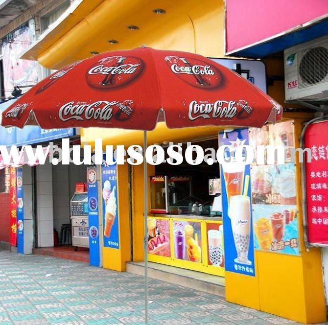 Sun and Outdoor Advertising Umbrella For The Coca Cola Promotion