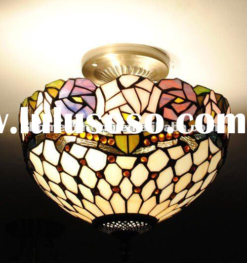Tiffany Style Stained Glass Ceiling Lighting(TF-12143)