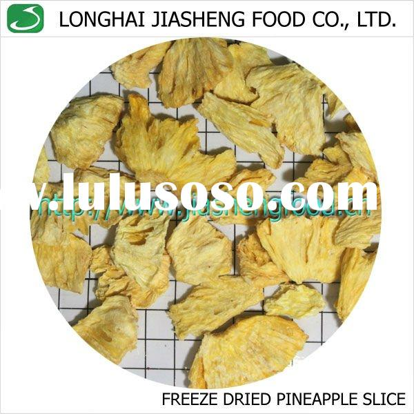 Vacuum Freeze Dried Sliced Pineapple Chips Fruit Crisps Snack