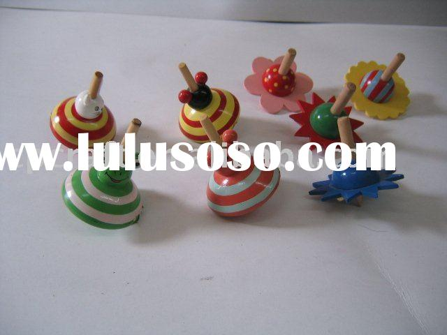 Wood craft decorative spinning toy