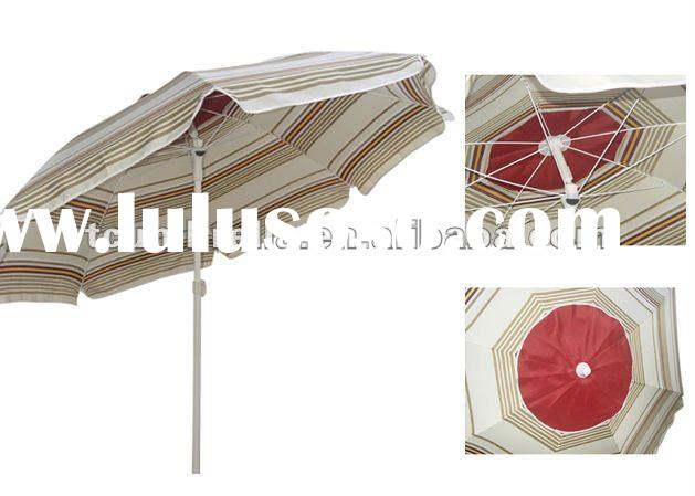 beach sun air vent umbrella with plastic tilt
