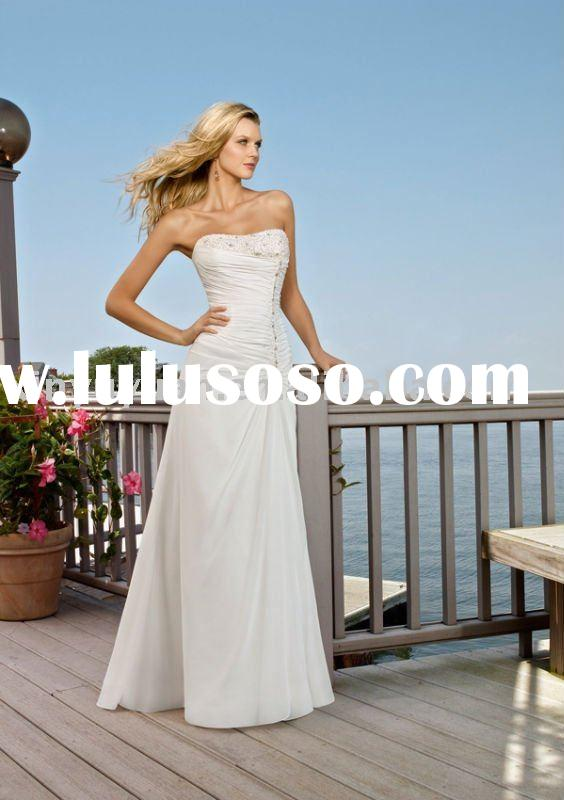 couture new designer casual summer outdoor wedding dresses MLW-138