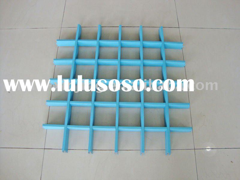 false open cell ceiling designs /aluminum grid ceiling(ISO9001,CE)