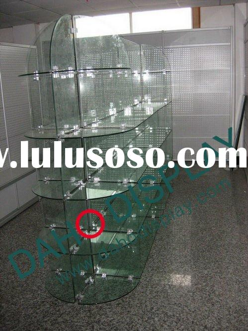 glass shelves for retail store