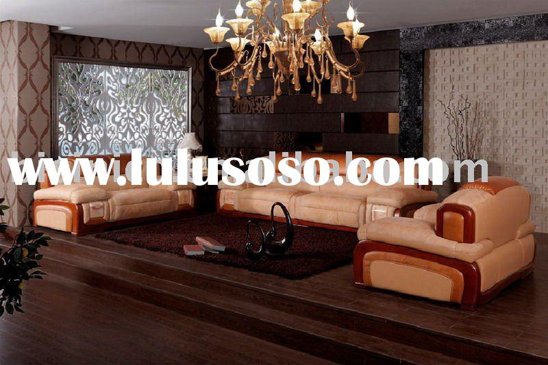 luxury antique chinese style gunuine leather villa sofa set very noble sofa set B46031