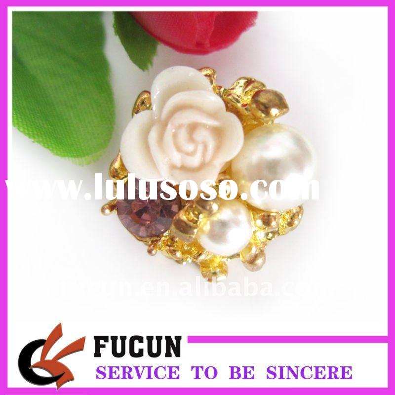 new design pearl rhinestone buckle/button