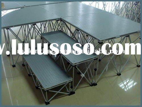 rubber portable stage for products display trade show booth