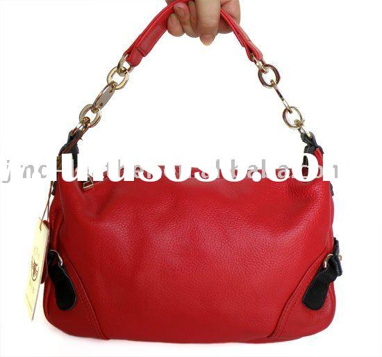 100% Great Leather Red Classic MIni Lady Bag Handbag