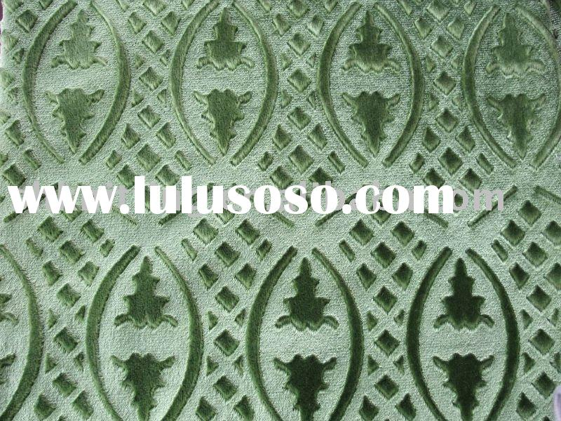 100% Polyester Tricot Home Textile Embossed Velvet Fabric
