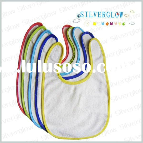 100 cotton terry towel fabric baby bib KSTW007