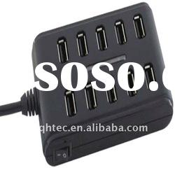 10 ports usb hub with on off switch