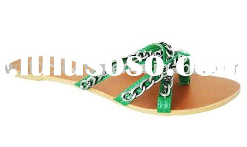 2011 summer new fashion Casual cool Green slippers