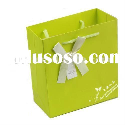 2012 GYY handmade paper gift bag with ribbon handle