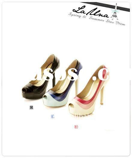 2012 NEW hot design lady shoes women's high heeled shoes sandals slippers cheap shoes Size:3