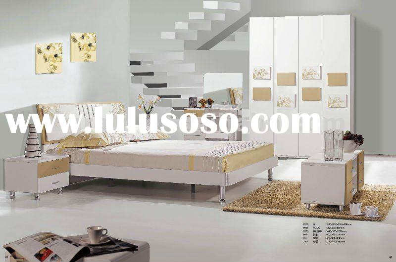 2012 new design Sunny adult bedroom furniture with MDF board and painting in Gold