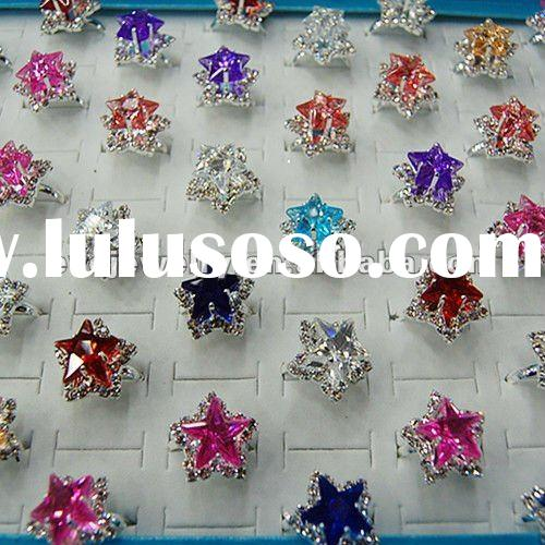 2012 new plastic diamond ring ,star diamond ring,EVO-R2012020004