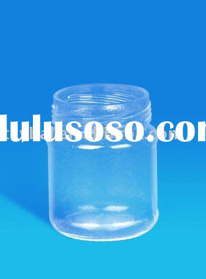 20ml-750ml clear glass jar with screw mouth and lid